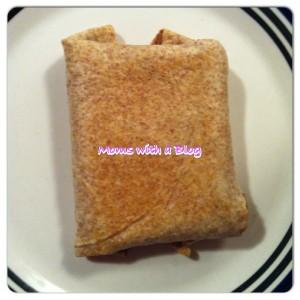 Baked chimichanga Cooked