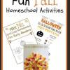 Free Fall Homeschool Activities