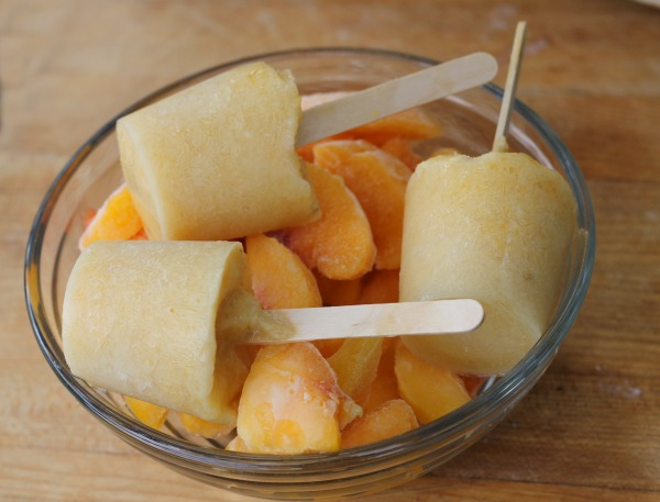 No Sugar Added Low Calorie Peach Pops
