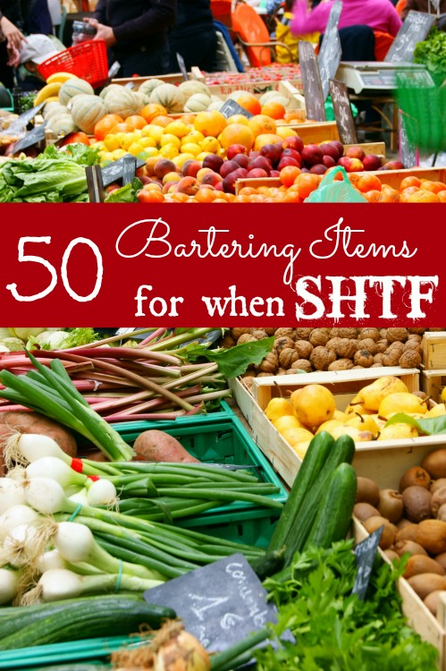 50 items to barter when SHTF
