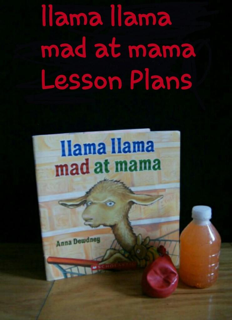 llama llama mad at mama Lesson Plans