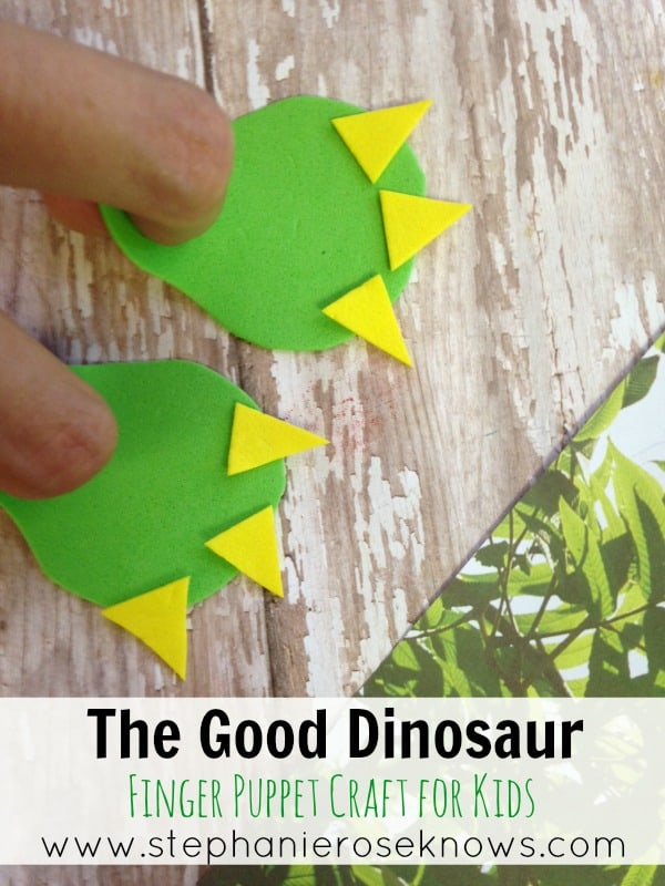 The Good Dinosaur Finger Puppet Craft