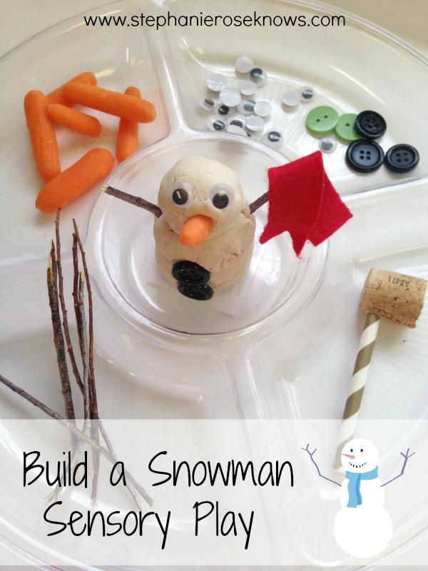 Build a Snowman Sensory Play