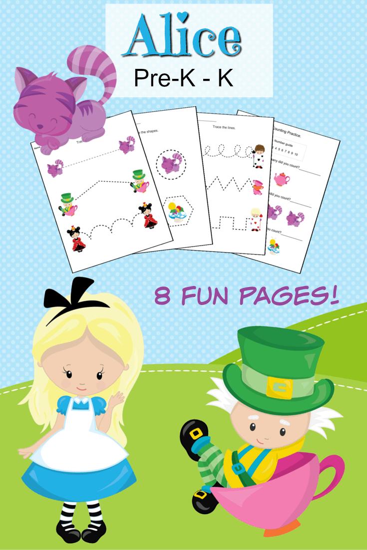 Alice in wonderland preschool printables simple in the for Alice in wonderland crafts