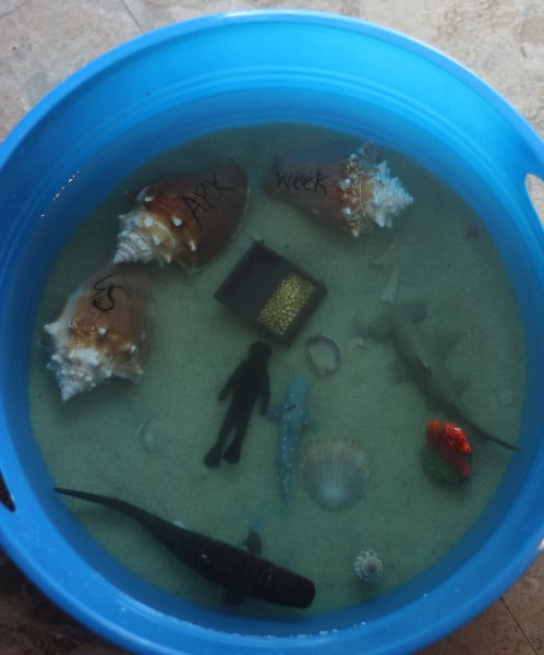 Shark Sensory Bin For Shark Week Simple In The Country