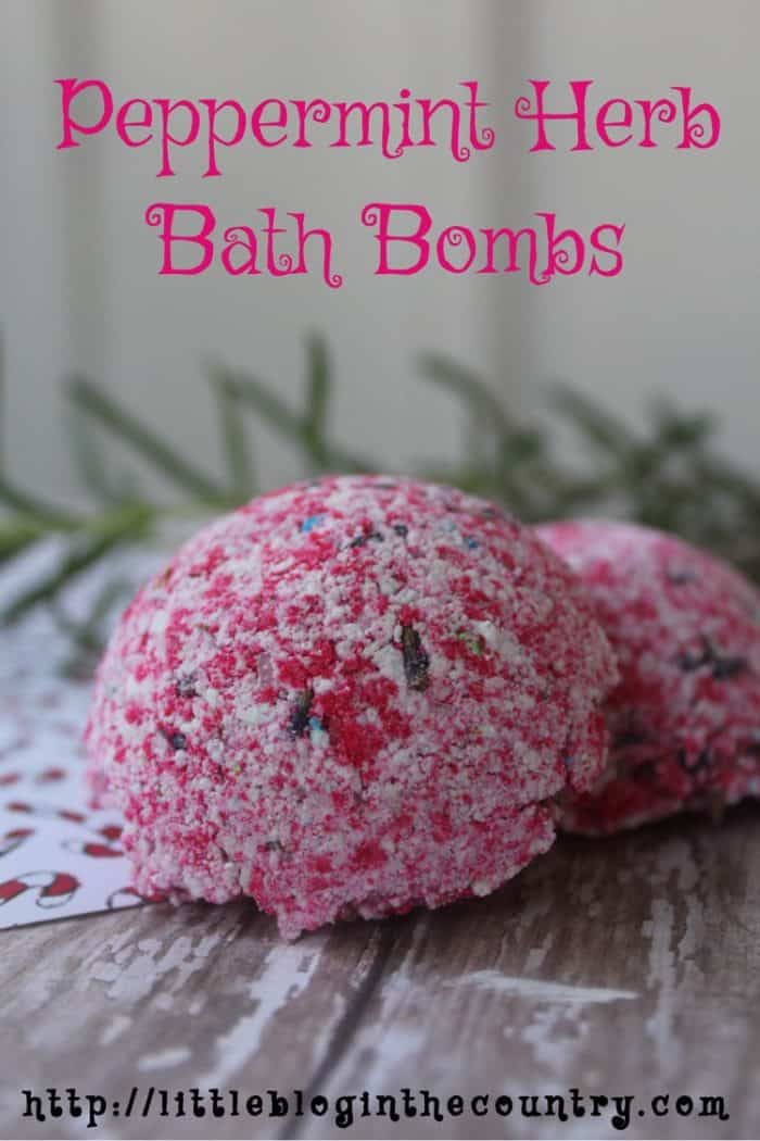 peppermint herb bath bombs