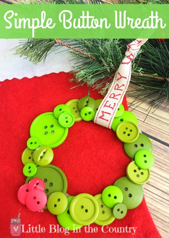 Simple button Wreath Ornament