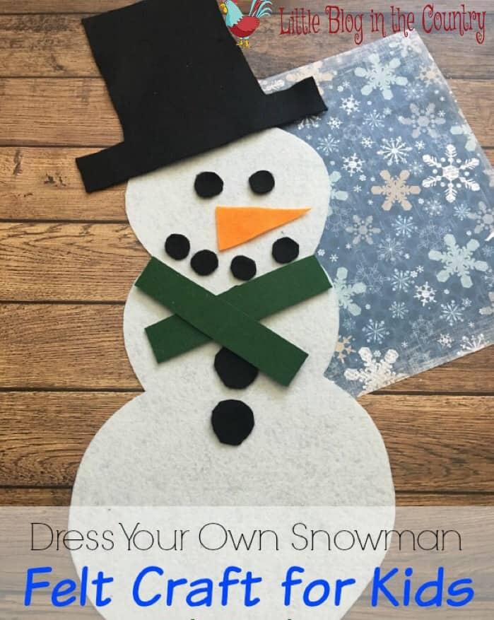 felt snowman craft for kids