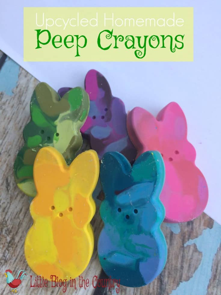 Homemade Peep crayons