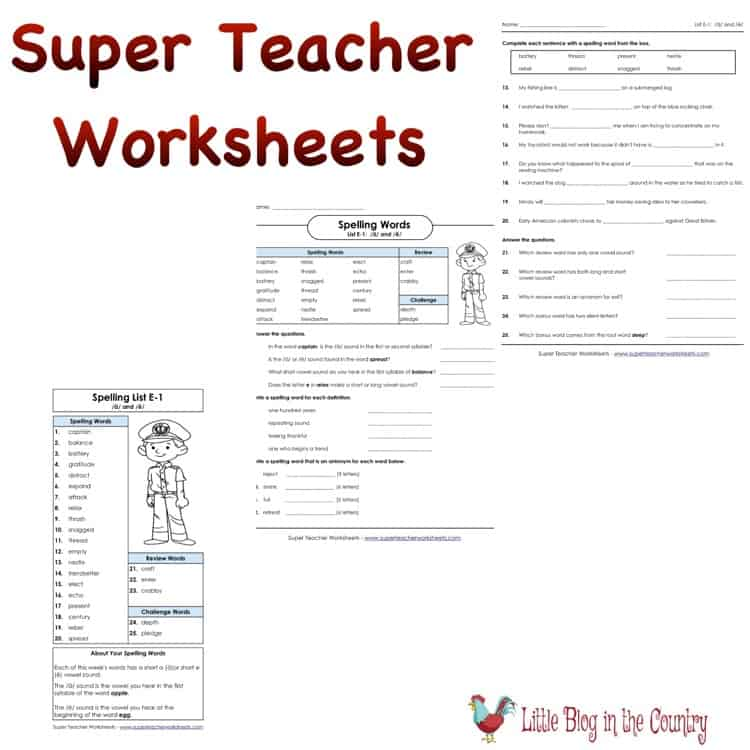 Math and writing are important but Super Teacher Worksheets goes beyond that. You can find any topic you need or want. Doing a chapter book?